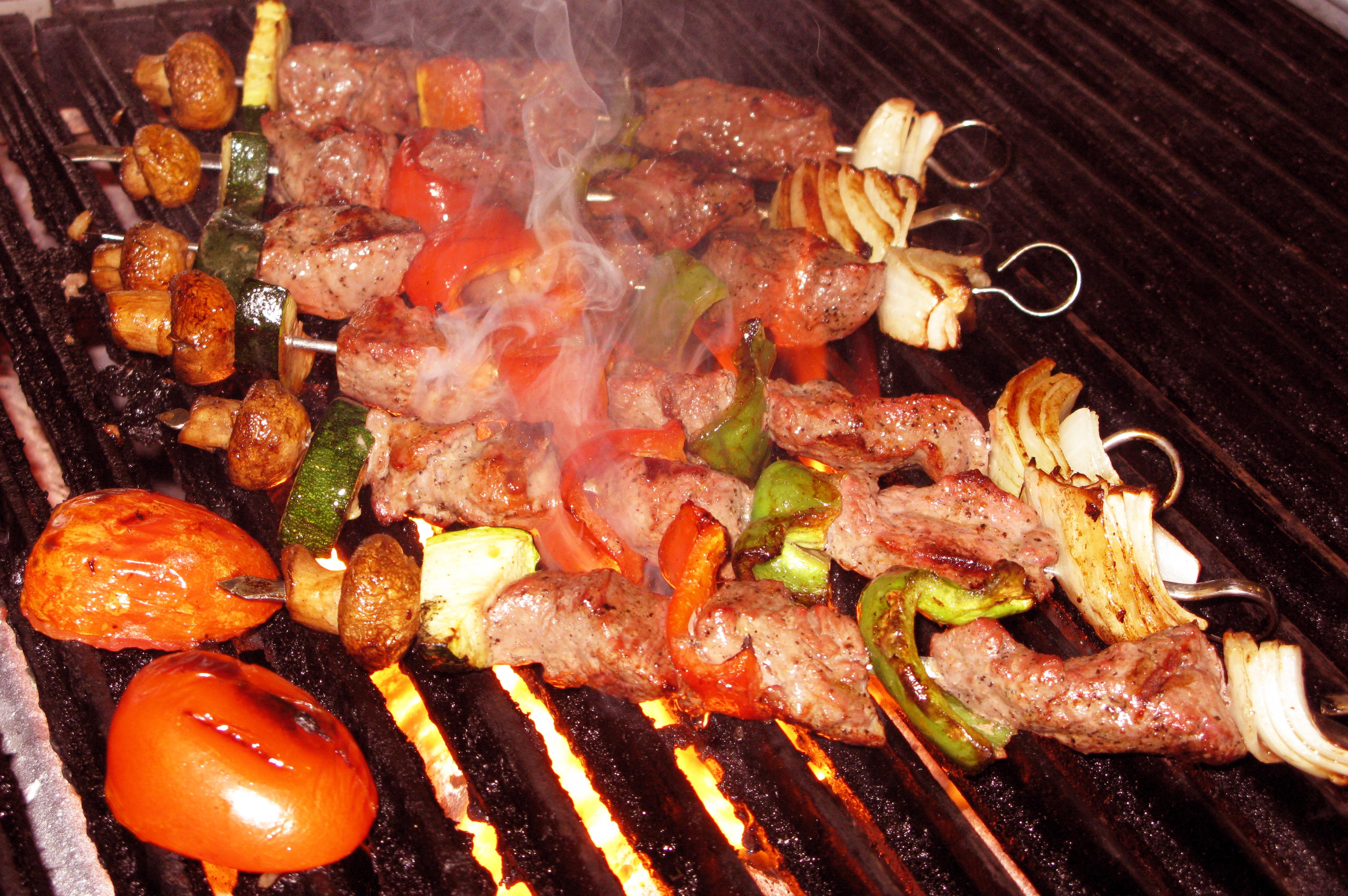 Beef Kabobs Plate Beef Kabob